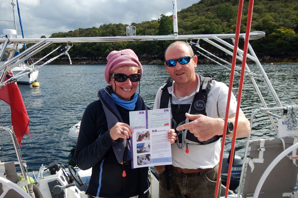 Tom with another successful completion of a RYA Course