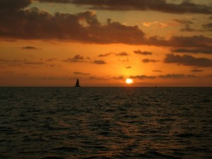 Honolulu sunset sailing