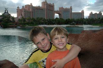 The boys love Atlantis Marina!
