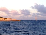 Cave Cay on the left