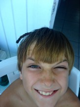 Alex got a braid.