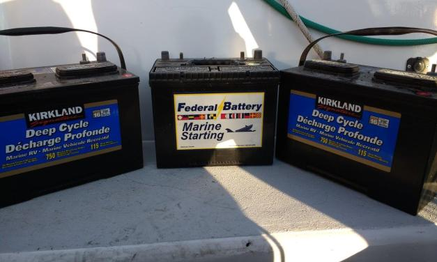 LiFePo4 Batteries: Part Three – Removing the old batteries and installing the charger