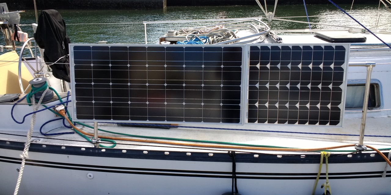 Solar Panel Expansion: Part One – Mounting the panels on the side of the boat