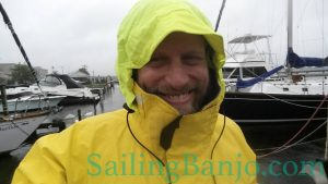 Crew member Shawn as the Gorton Fisherman