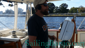 Shawn at the helm