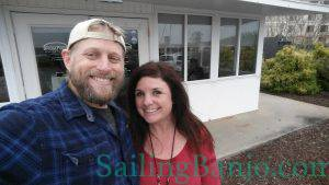 Shannon & Shawn at the Bridgepoint Marina Thanksgiving Dinner