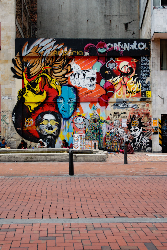 Graphic Graffiti near Bogota, Colombia's City Center