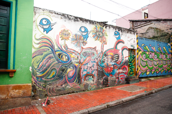 Sea Inspired Graffiti in Bogota, Colombia's La Candelaria District