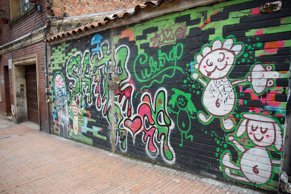 Graffiti in Bogota, Colombia's La Candelaria District