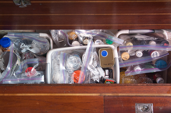 A dry bilge is a great place to store provisions.