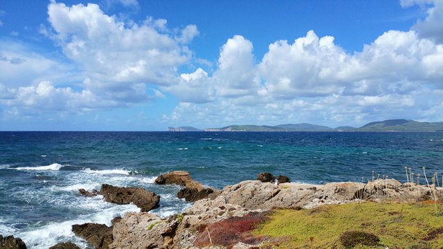 The Mediterranean from Alghero, Sardinia