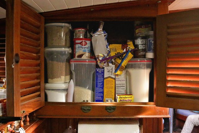 Sistema containers and Gripstics are great storage items for your galley