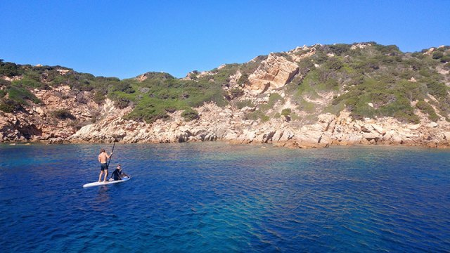 Paddling through La Maddalenas in Sardinia