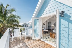 Harbor view rental in Hope Town on Elbow Cay in the Abacos Bahamas