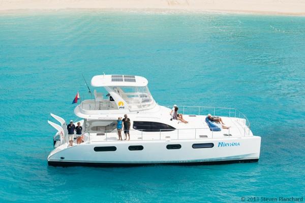 Nirvana Power Cat Crewed Catamaran Charter Caribbean