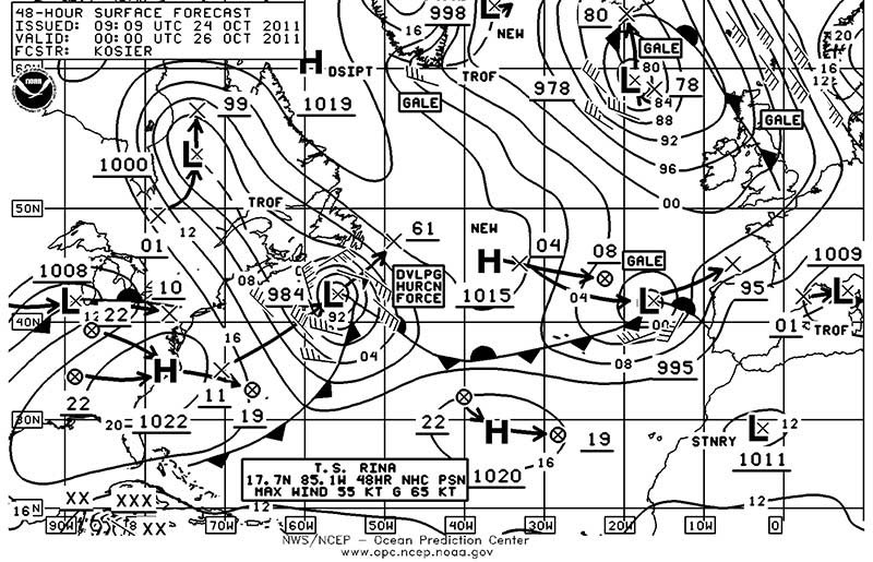 Weather fax image