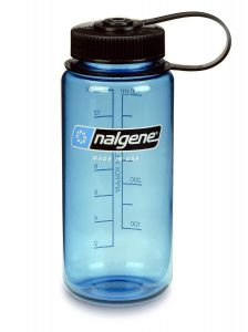 An old nalgene water bottle is great for dry ingredients like beans, especially for storing in tall bins.