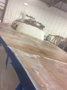 Rusting Steel Boat: Peel Ply Helps smooth the surface