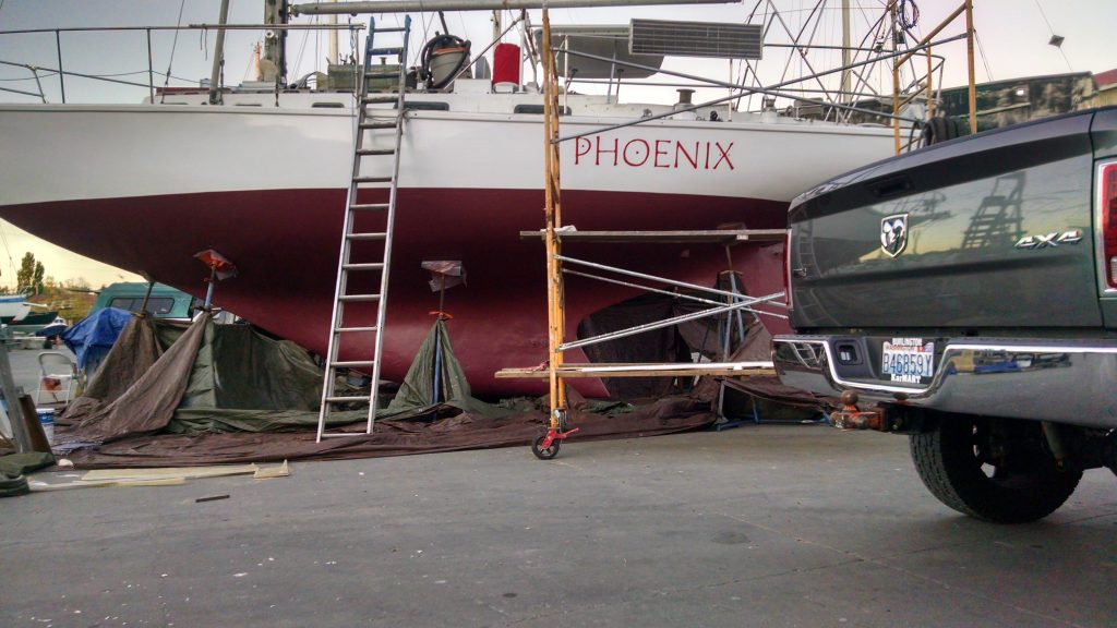 Phoenix with steel work completed.