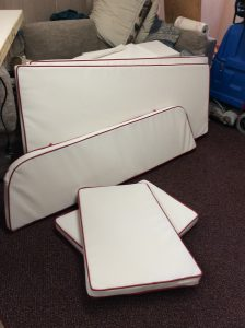 Boat Cushions - never a rectangle or 90 degree angle to be seen!