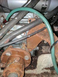 Transmission control cable holder