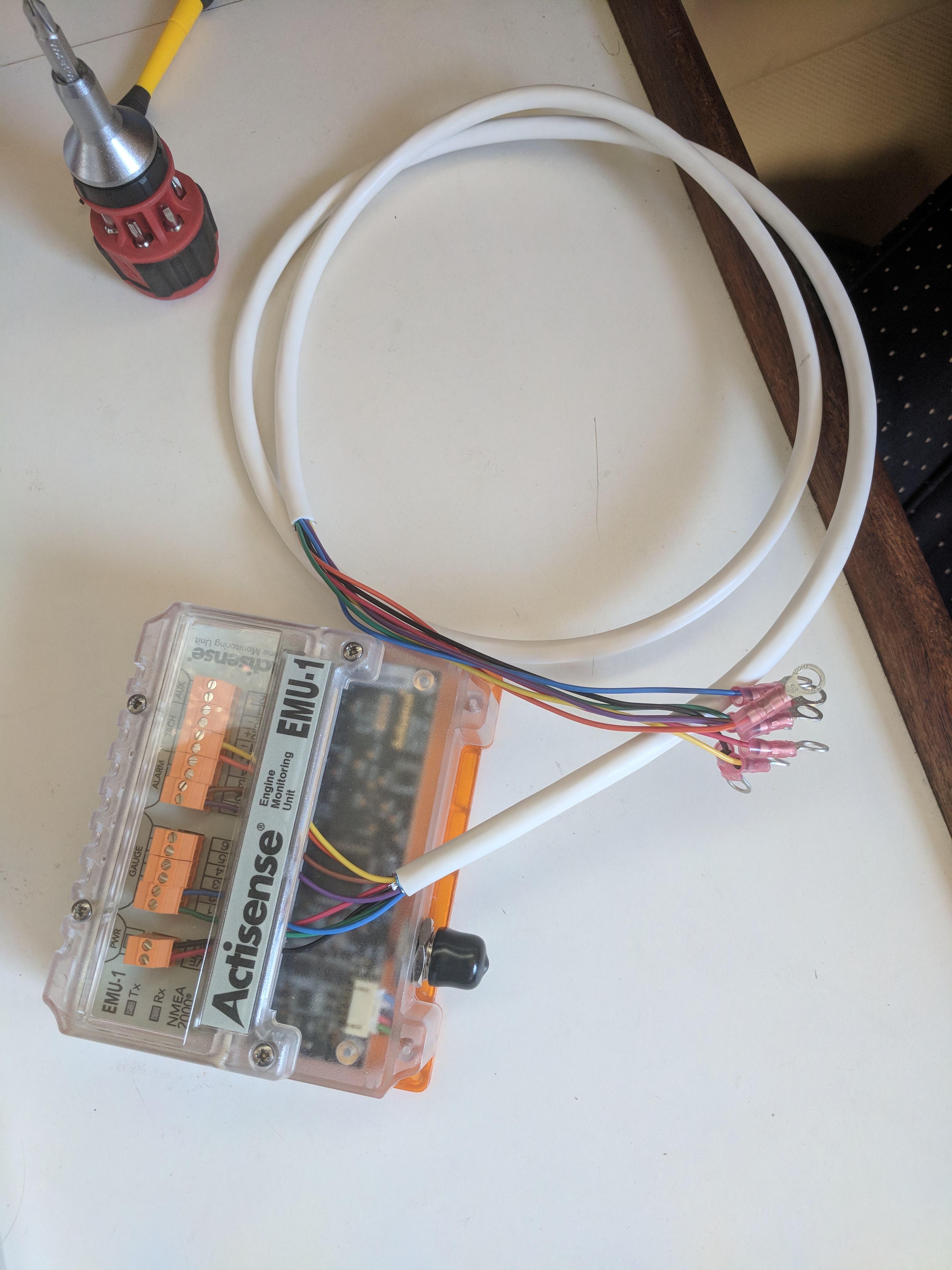 Universal M25XPB Engine Monitoring Actisense EMU-1 setup