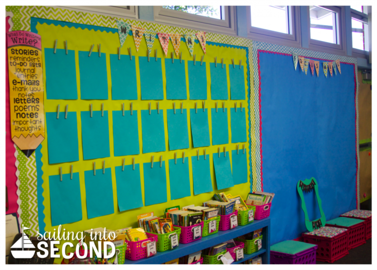 Sailing into Second-classroom bulletin boards