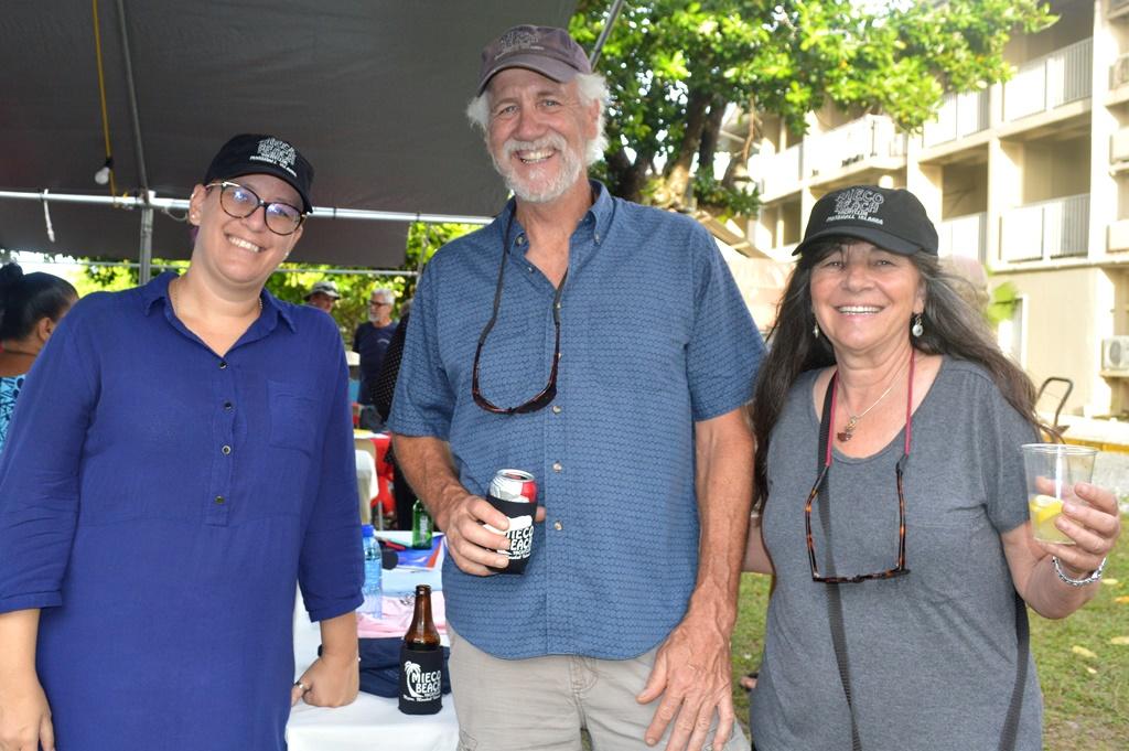 Quartermaster Nicoline Nel and Shane and Tina Finneran.