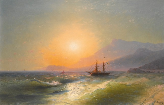 View from Cap Martin with Monaco in the distance, 1885