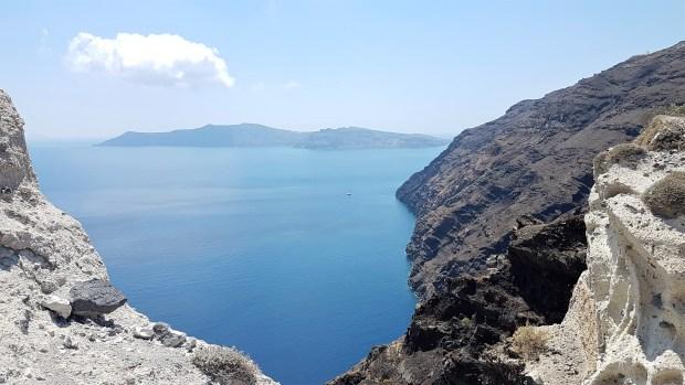 Route de la crête entre Oia et Thira
