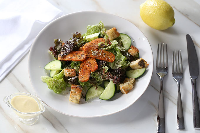 Vegan Buffalo Casear Salad