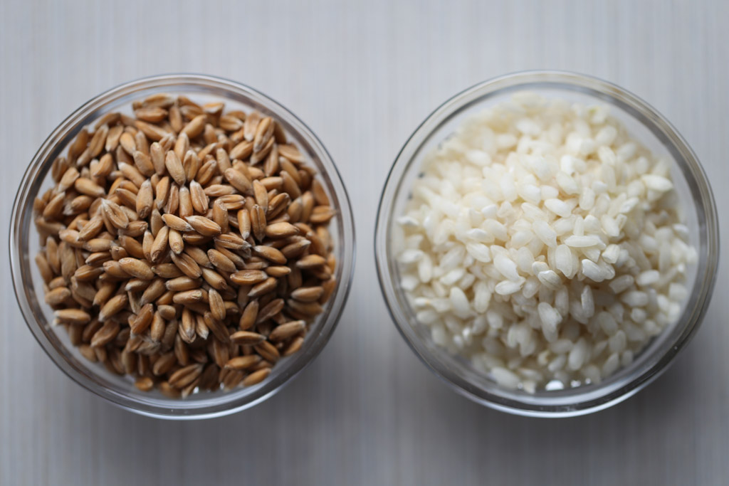 Whole Grain Spelt Berries vs White Arborio Rice