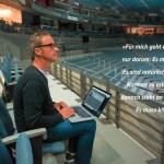 Beschallungs-Spurt mit Michael Häck durch die Lanxess-Arena