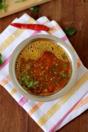 Udupi Tomato Rasam Recipe - Tomato Saaru - Udupi Vegetarian Recipes