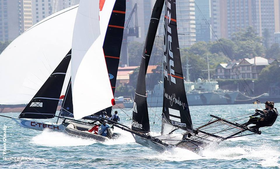 18ft Skiff JJ Giltinan Championship – Rainy day Race 5