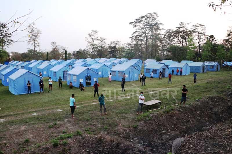 फान्सबाट नेपाल आएकी १९ बर्षे युवती संग आएका २ ब्याक्ती सहित ९२ जना मोरङको टाडी क्वारेन्टाइनमा