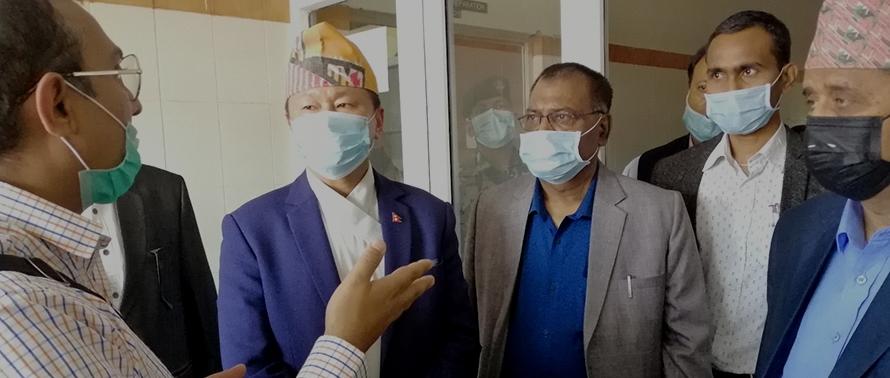 कोरोना भाइरस संक्रमणको परीक्षण धरानबाट सुरु