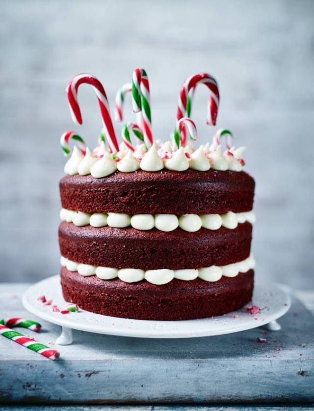 Recipe: Candy cane cake
