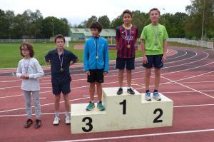 podium 5èmes garçons