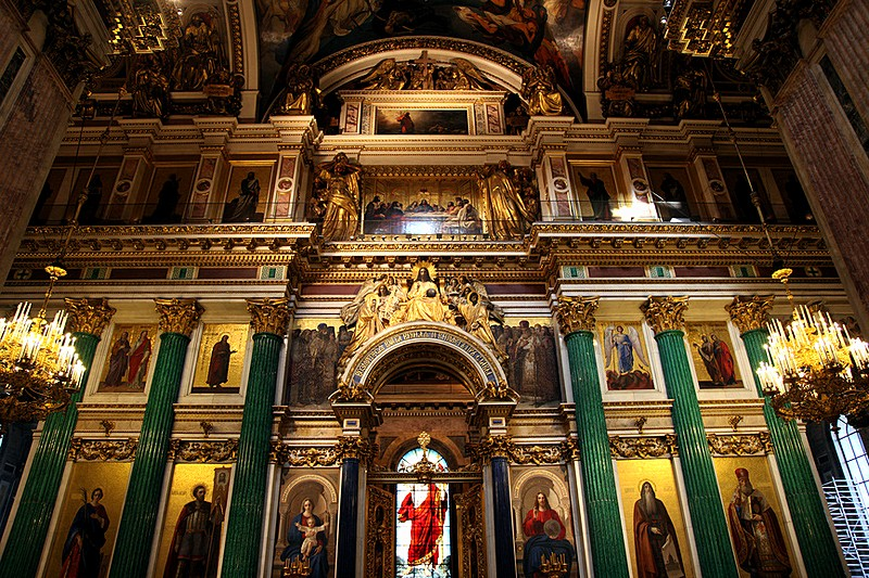 Splendid interior of St. Isaac's Cathedral in St Petersburg, Russia