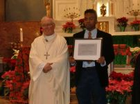 Christopher Augustin, a Senior at Canisius High School, was one of the winners of The Albert Lenhard Scholarship. This scholarship is awarded to persons either entering college or in college already.