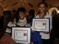 Taj'Anay Quigley and Heaven Eliott, eigth graders at NativityMiguel-St. Monica Campus, were awardees of the Dr. Martin Luther King Jr. Scholarship.