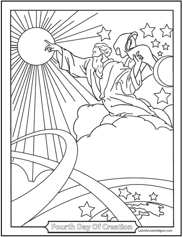 45 Bible Story Coloring Pages Creation Jesus Miracles Parables