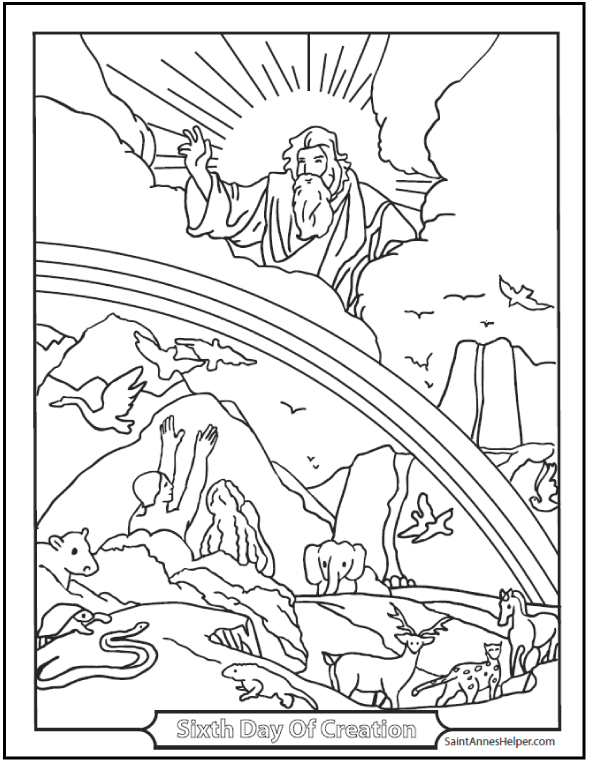 creation coloring pages  god created heaven and earth