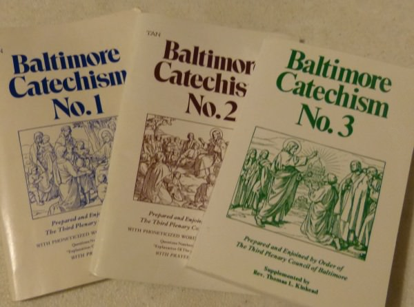 Catholic Catechism Class With The Baltimore Catechism