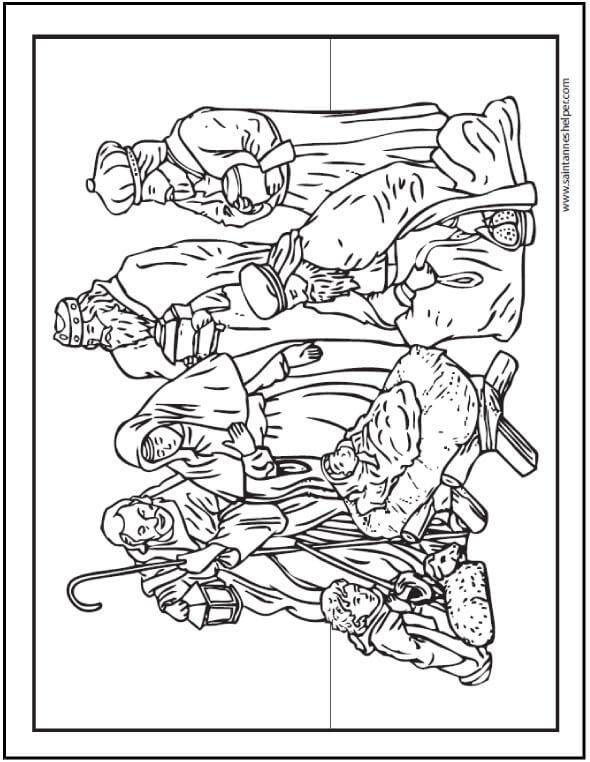 Three Kings Coloring Sheet We