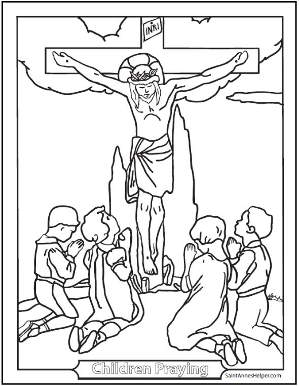 catholic coloring pages sacraments rosary saints children