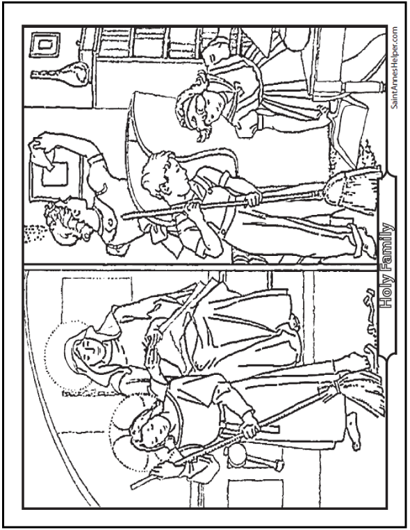 Fathers Day Coloring Pages Of St Joseph