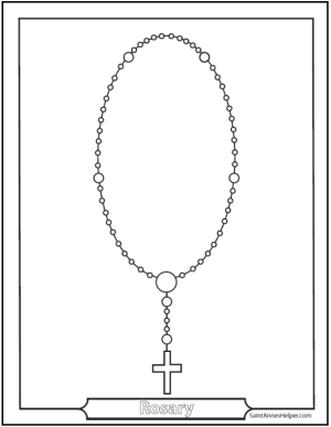 6 Rosary Diagrams and Rosary Cards to Print