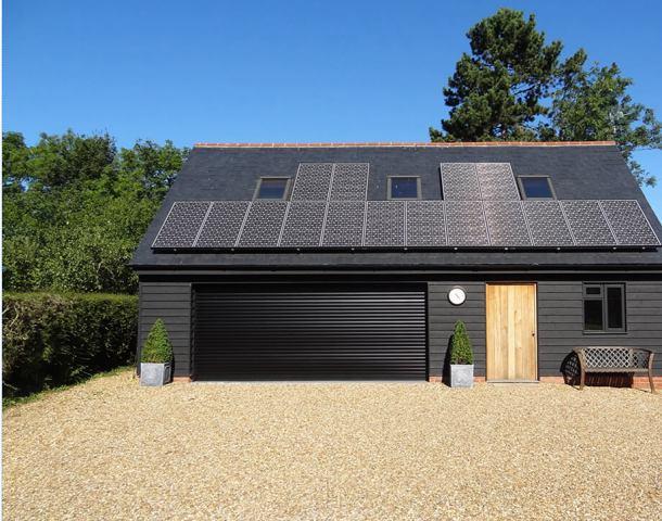 solar panel on garage